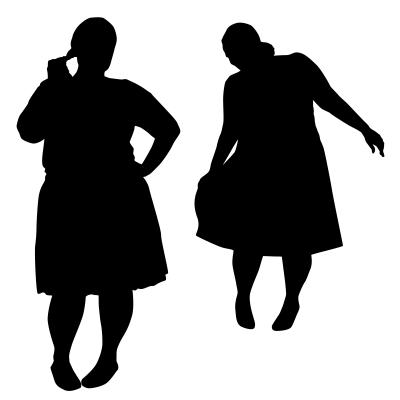 Silhouettes Of Fat Women, sattva / www.freedigitalphotos.net