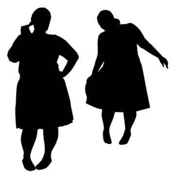 Silhouettes Of Fat Women, sattva / www.freedigitalphotos.net