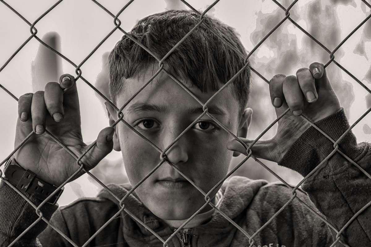Chłopiec za siatką - zdjęcie partnera